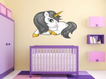 FULL COLOUR Unicorn Wall Art, 3D Sticker, Fantasy, Modern Transfer,  PVC Decal